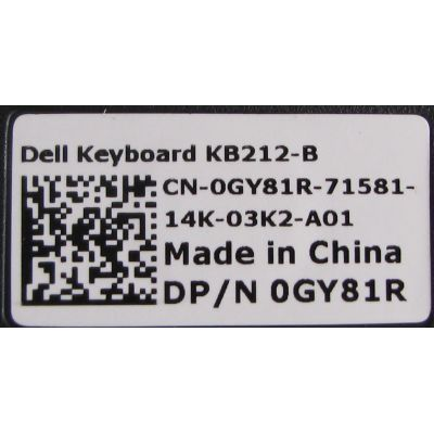 Keyboard protection cover for Dell KB212-B